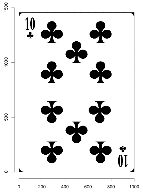 Playing cards, with R