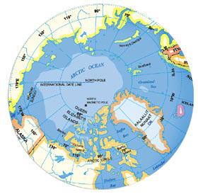 Dernières cartes du pôle nord