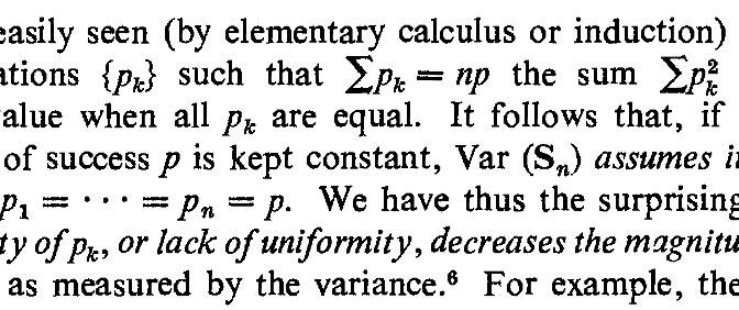 Retour sur un résultat de Feller (1957) sur l'homogénéité et l'hétérogénéité des risques