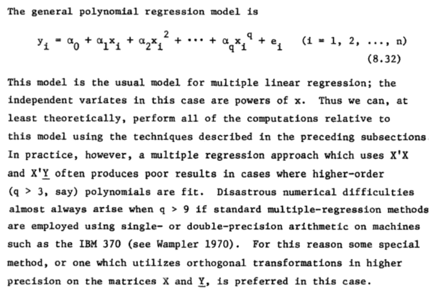 Function basis and regression