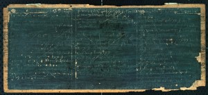 Tablette de cire contenant les comtes du boursier de Cîteaux (1321-1325), ADCO, 11 H 1165