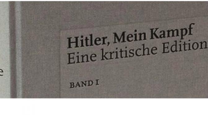 """Table ronde autour de l'édition critique allemande de """"Mein Kampf"""", 16 mars 2016"""