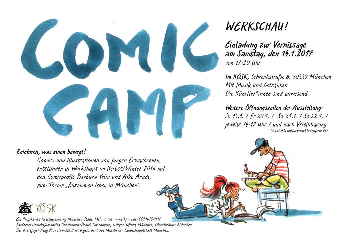 Ausstellung: Ergebnisse des Comic Camp im Köşk