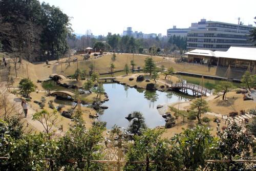 Vue du jardin depuis l'accès supérieur