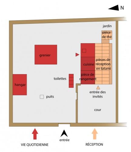 Plan de la résidence d'un vassal