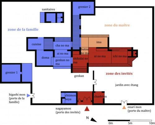 Plan de la maison d'un samouraï du clan Ashimori