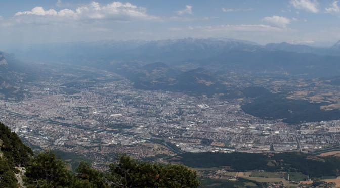 Panoramic view of Grenoble