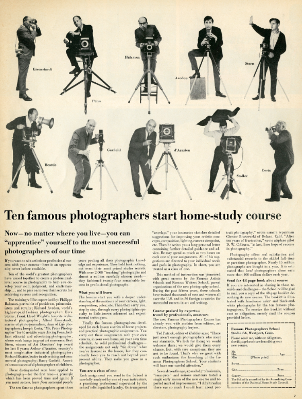 Famous Photographers Course, 1964