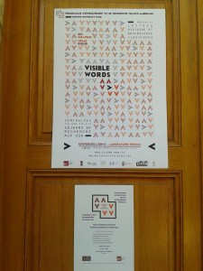 Visible Word Programme Intervention on the door of EFA