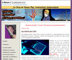 """Blogpost """"les maîtres de l'ADN"""""""