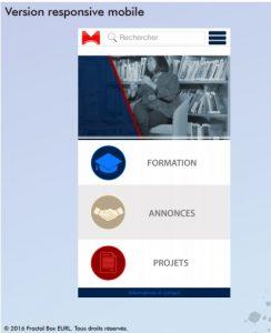 Projet graphique de la version pour smartphone