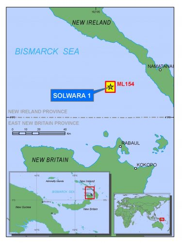 Localisation du projet Solwara I. Source: Nautilus Minerals