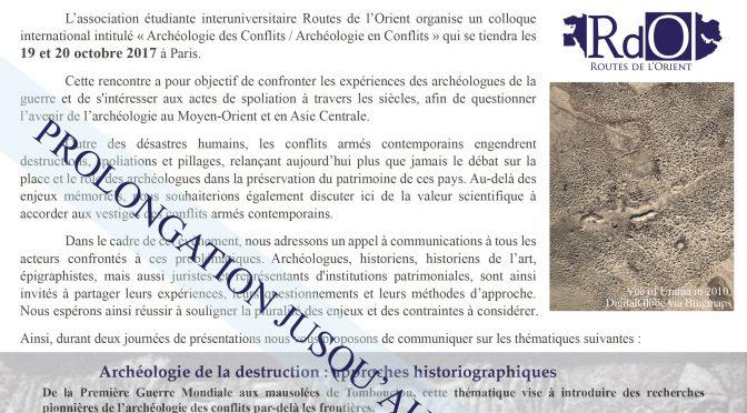 Colloque Archéologie des conflits / Archaeology of Conflict symposium