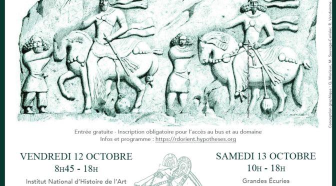 [Colloque] Le cheval, l'âne et la mule dans les empires de l'orient ancien, 12 et 13 octobre, INHA – Domaine de Chantilly
