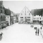 Älteste fotografische Ansicht des Lemgoer Marktplatzes (StaL Fotosammlung, vor 1900)