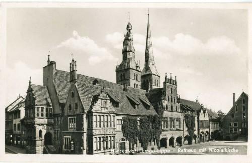 Foto 2: Ansicht des Lemgoer Rathauses von Nord-Westen