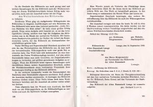 Auflösung Hilfswerk Lemgo (aus: Joseph Wiese, Lemgo in schwerer Zeit, 1950)