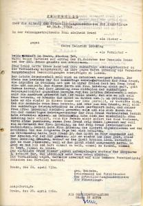 Schlichtungsverfahren Wohnungsstreit Brand / Lüdeking, 1950 (StaL H 1 - Brake - 193)