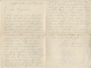 Feldpostbrief über die Kriegsweihnacht 1914 (StaL V 30 / 19)