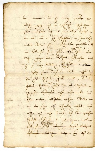 Vollmacht (Konzept) im Fall Christoph Hoffmeister, 1700 (StaL A 5914)