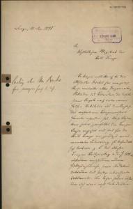 Bericht August Schachts über aufgefundene Archivalien beim Althändler Frenkel, Lemgo 1898 (StaL A 10122)