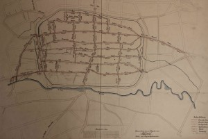 Planungsentwurf einer gesamtstädtischen Kanalisation für Lemgo nach Weidlich, 1899 (StaL K 1783)