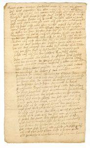 Brief der Margaretha Hos(s)beck, Ehefrau des Jobst Hosbeck (StaL A_10879)