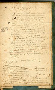 1. Brief des Jacob Henrich Zütterig an seine Schwiegermutter über die Lemgoer Hexenverfolgung (StaL A 2003)