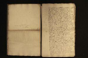 Brief des Bernd Grabbe an seine Frau Catharina Corvers (StaL A 3641 b)