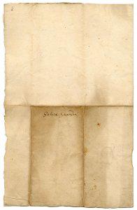 """Rückseite der """"spanischen Urkunde"""" (StaL U 1468)"""