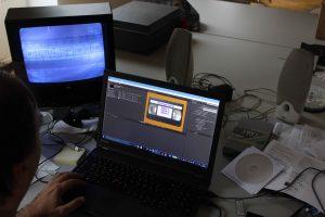Arbeitsplatz Digitalisierung Film- und Tondokumente (Foto: Oeben)