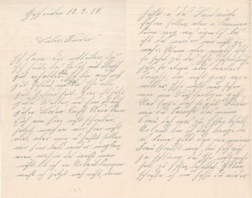 Feldpostbrief vom 12. April 1917