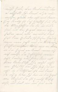 Heinrich Echtermeyer an seinen Bruder Bernhard Echtermeyer, Seite 2 des Feldpostbriefs vom 20. August 1916