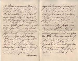 August Jasper an seine Frau Bernhardine, vom 13. Dezember 1914; erste Seite.