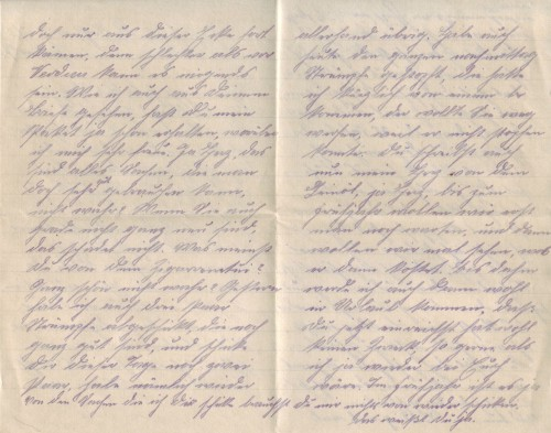 August Jasper an Bernhardine, Brief vom 5. Januar 1917 (Teil 2)