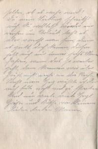 August Jasper an seine Frau Bernhardine, vom 9. Dezember 1916; dritte Seite.
