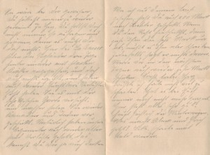Feldpostbrief August Jaspers an Bernhardine Jasper, Brief vom 19. Juni 1915, Seite 2.