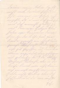 Heinrich Echtermeyer an seinen Bruder Bernhard, Feldpostbrief vom 25. Dezember 1916; Zweite Seite.