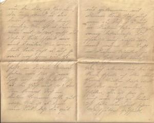 """Feldpostbrief an Bernhardine Jasper vom 17. August 1918: """"Es ist hier aber noch schrecklich heiß, in diesem Sommer haben wir hier so eine Hitze noch nicht gehabt. Ist es bei Euch auch so?"""""""