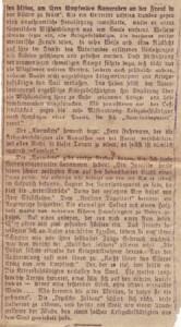 """Zweite Seite des Artikels, dazu Jasper im Brief an Bernhadine: """"[D]a kannst Du mal sehen, wie es in Deutschland mit die arme Krüppels gemacht wird."""""""