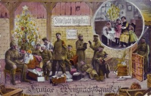 """Feldpostkarte an die Familie Jasper zum Weihnachtsfest 1915: """" [...] es regnete, da haben ich noch an Euch gedacht."""""""