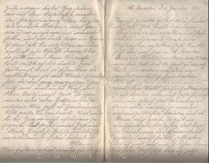 Feldpostbrief vom 1. Januar 1915 (a).