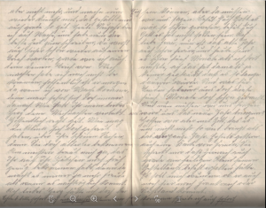 Feldpostbrief vom 1. Januar 1915 (b).