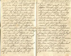 August Jasper an seine Frau Bernhadine, zweite und dritte Seite des Briefes vom 03. Dezember 1915.