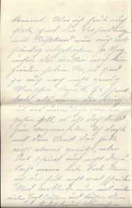 August Jasper an seine Frau Bernhardine, letzte Seite des Feldpostbriefes vom 5. Februar 1918.