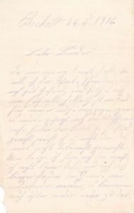 Heinrich Echtermeyer an seinen Bruder Bernhard, vom 26. Mai 1916; erste Seite.
