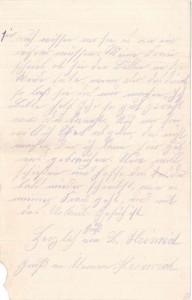 Heinrich Echtermeyer an seinen Bruder Bernhard, vom 26. Mai 1916; dritte Seite.