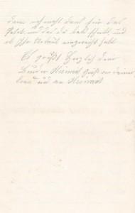 Brief Heinrich Echtermeyers an seinen Bruder, geschrieben am 20.8.1916. Seite 4.