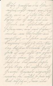 Brief Heinrich Echtermeyers an seinen Bruder, geschrieben am 26.3.1916. Seite 2