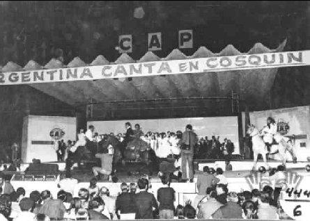 Atahualpa Yupanqui en el Festival de Cosquín 1979